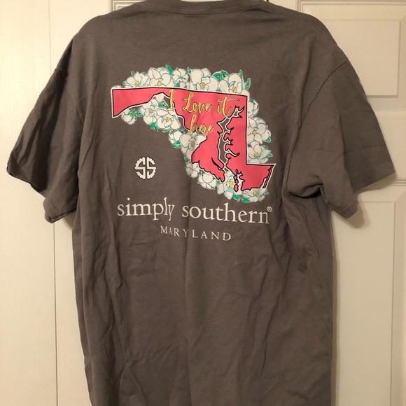 0bc3697ef NWT Gray Simply Southern Maryland Tshirt. M_5c9922eaaa8770e58a3be61f